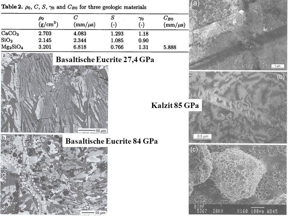 Basaltische Eucrite 27,4 GPa
