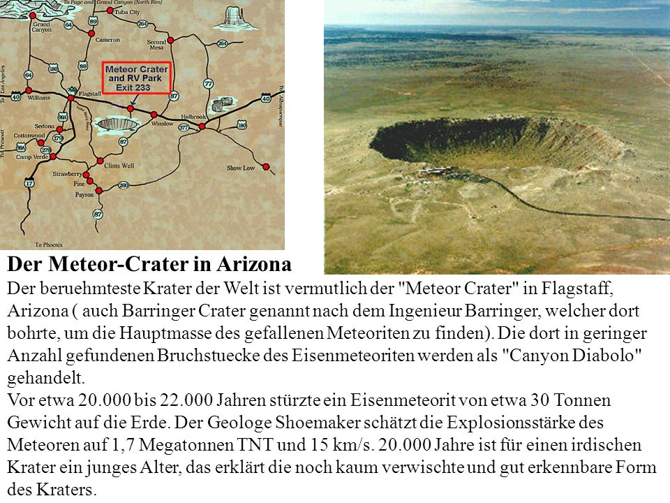 Der Meteor-Crater in Arizona