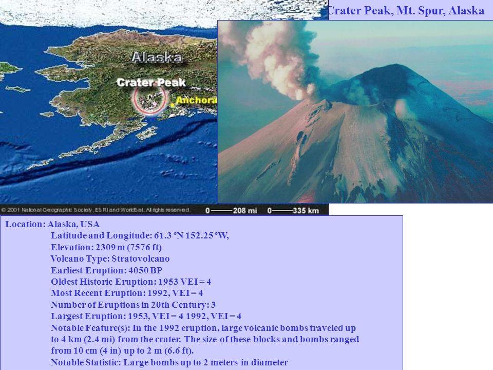 Crater Peak, Mt. Spur, Alaska