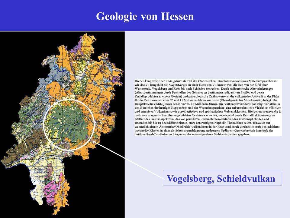 Geologie von Hessen Vogelsberg, Schieldvulkan