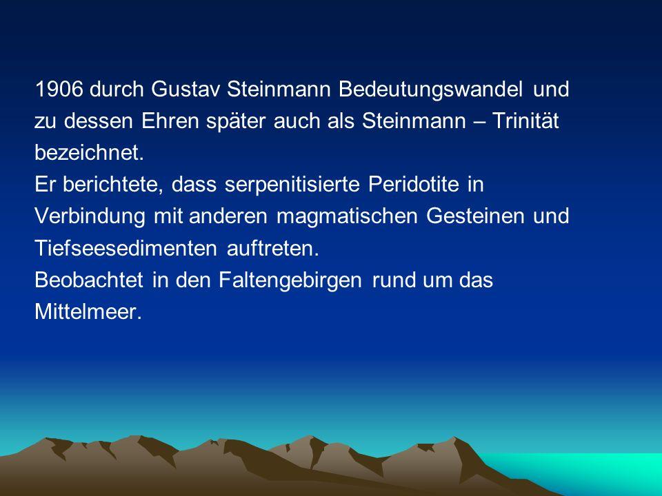 1906 durch Gustav Steinmann Bedeutungswandel und