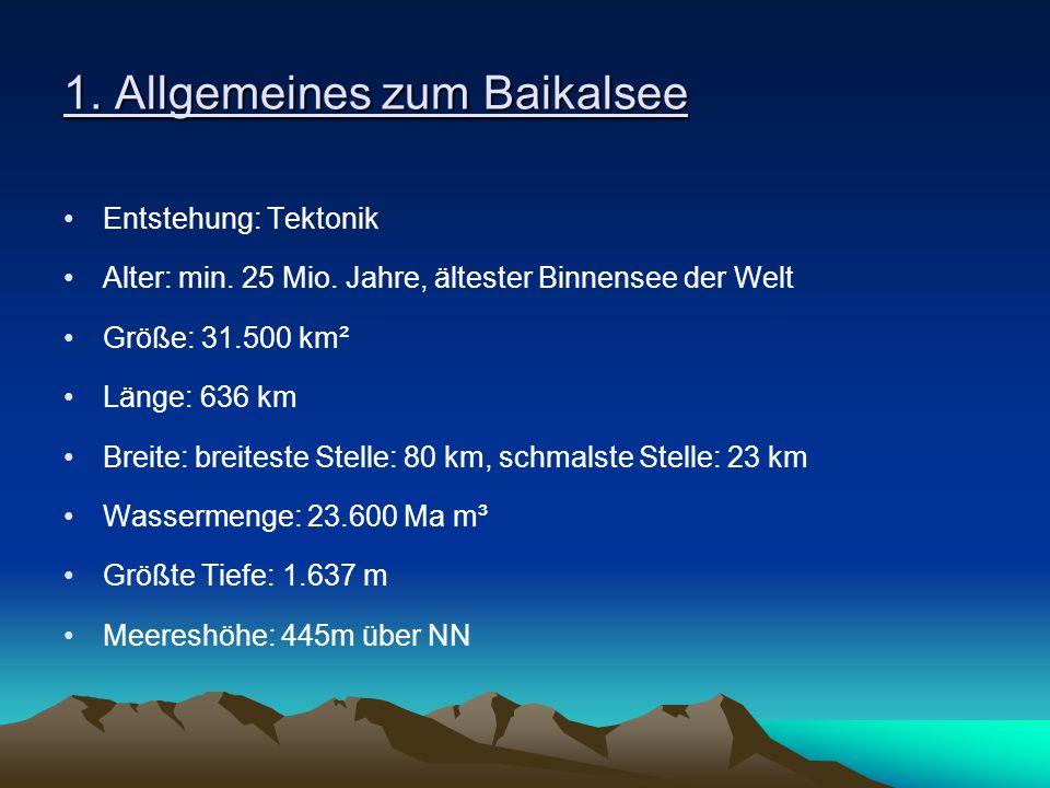 1. Allgemeines zum Baikalsee