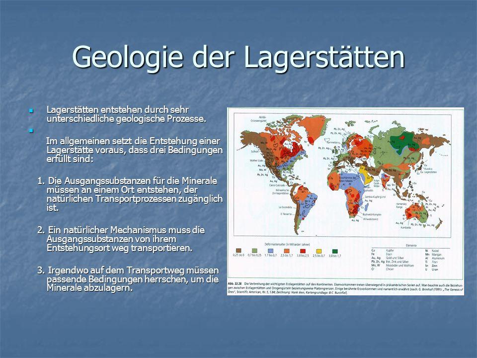 Geologie der Lagerstätten