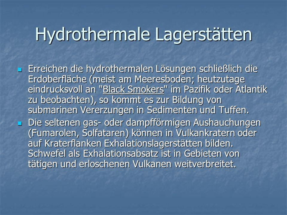 Hydrothermale Lagerstätten