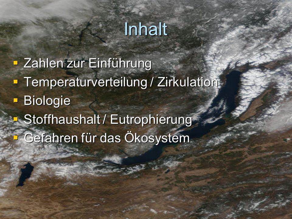 Inhalt Zahlen zur Einführung Temperaturverteilung / Zirkulation