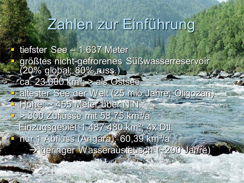 Zahlen zur Einführung tiefster See – 1.637 Meter
