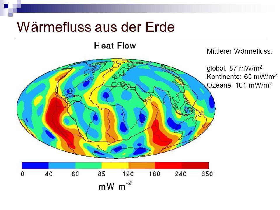 Wärmefluss aus der Erde