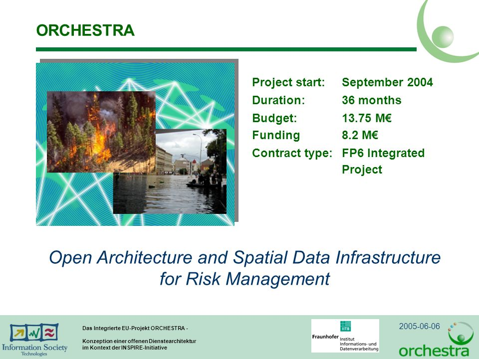 Open Architecture and Spatial Data Infrastructure for Risk Management