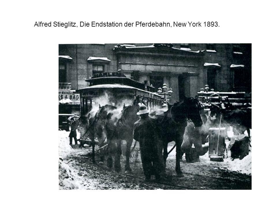 Alfred Stieglitz, Die Endstation der Pferdebahn, New York 1893.