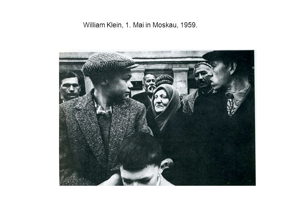 William Klein, 1. Mai in Moskau, 1959.