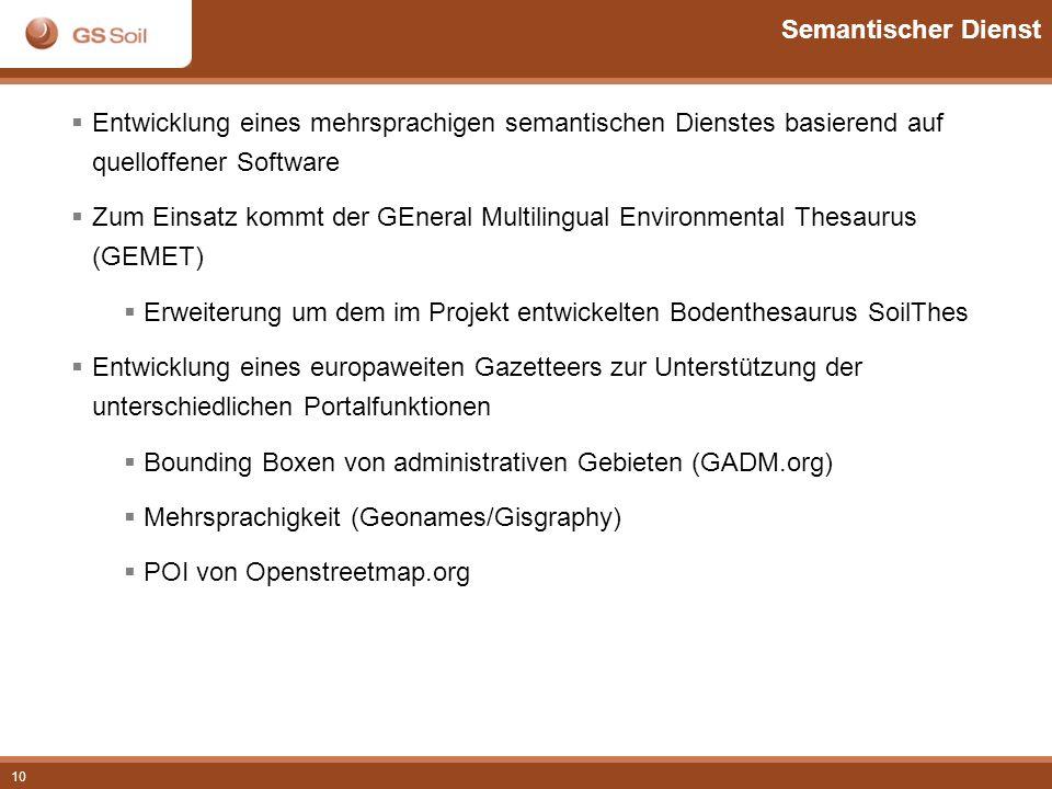 Semantischer Dienst Entwicklung eines mehrsprachigen semantischen Dienstes basierend auf quelloffener Software.