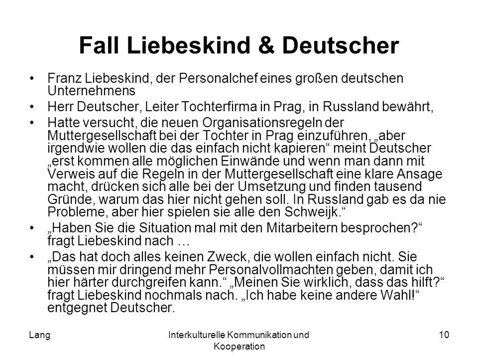Fall Liebeskind & Deutscher