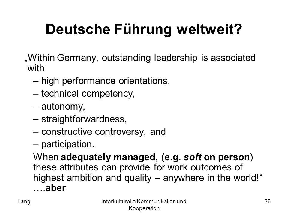 Deutsche Führung weltweit