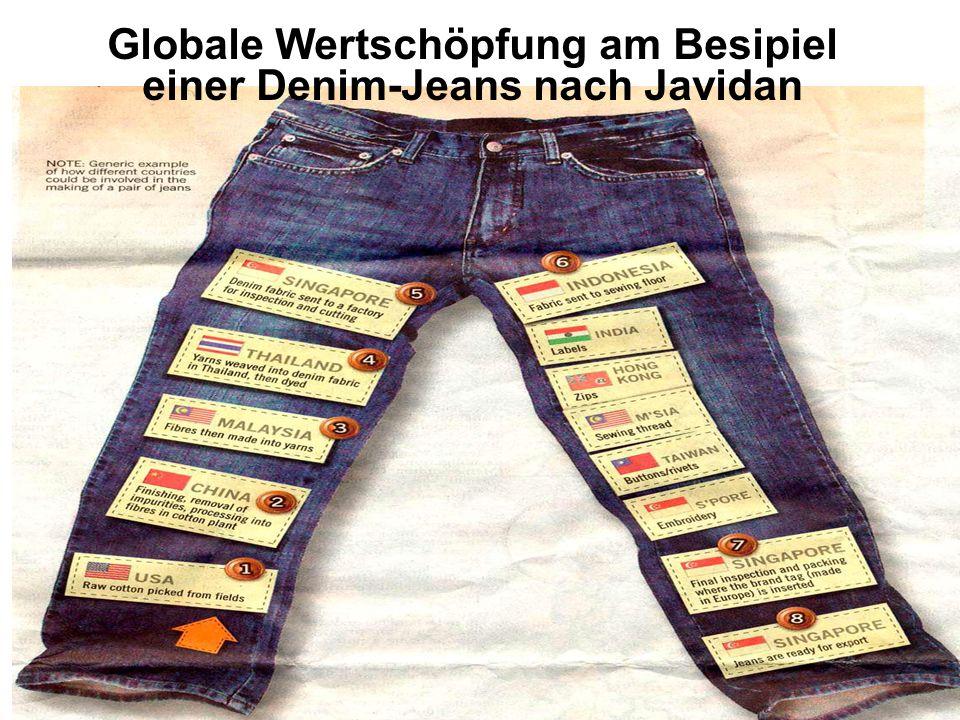 Globale Wertschöpfung am Besipiel einer Denim-Jeans nach Javidan