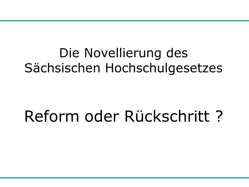 Reform oder Rückschritt