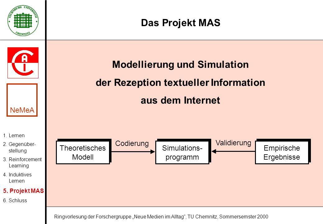 Modellierung und Simulation der Rezeption textueller Information