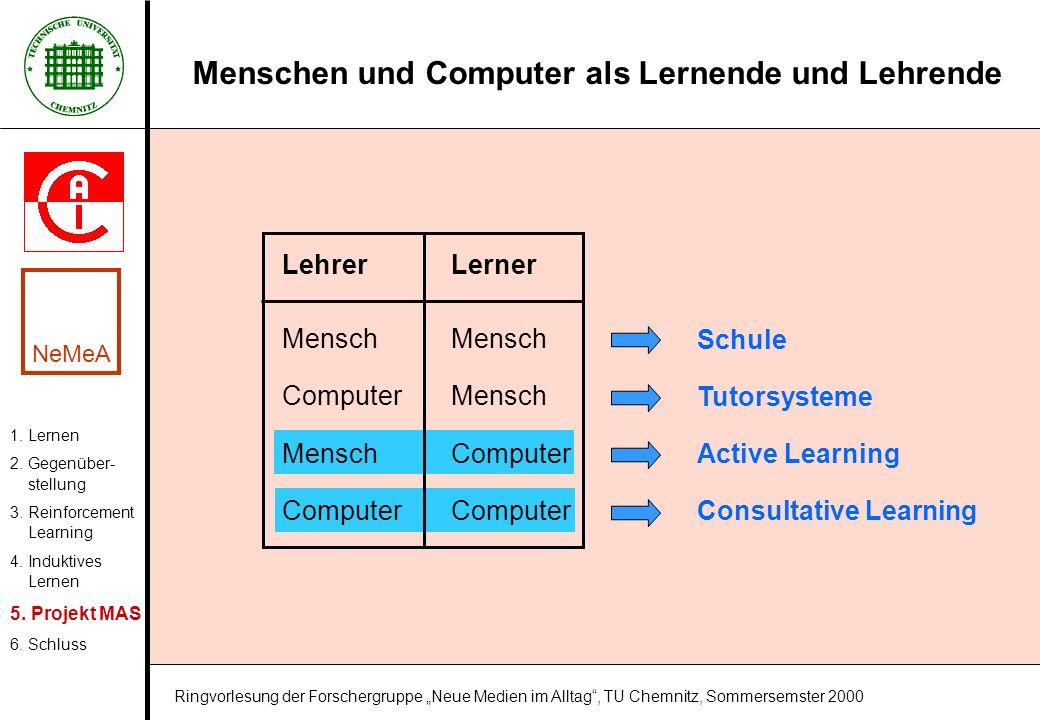 Menschen und Computer als Lernende und Lehrende