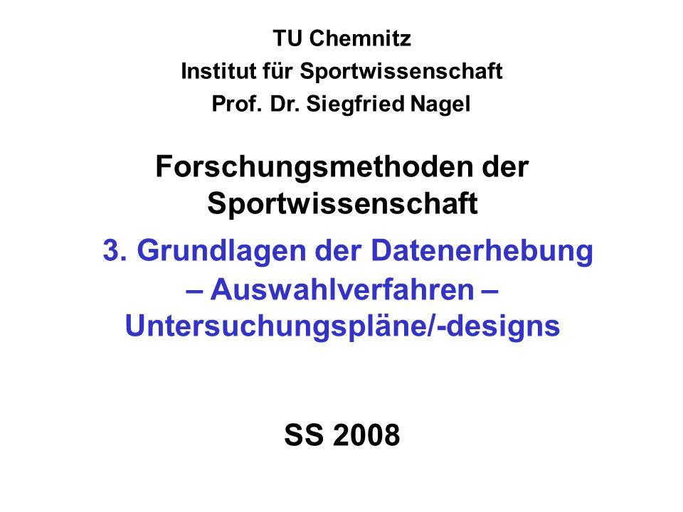 Institut für Sportwissenschaft Prof. Dr. Siegfried Nagel