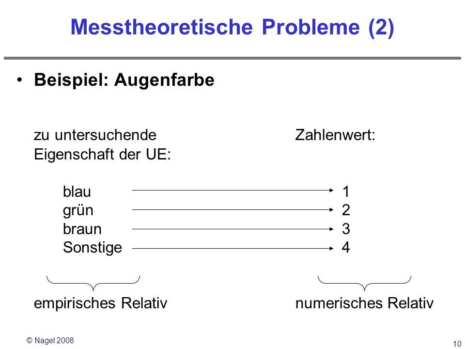 Messtheoretische Probleme (2)