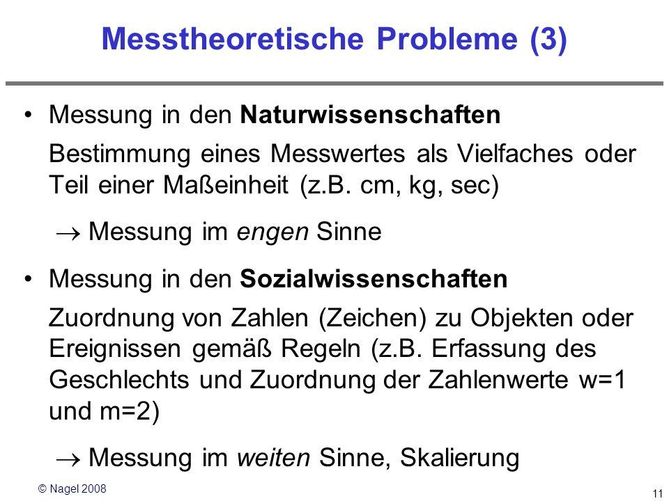 Messtheoretische Probleme (3)