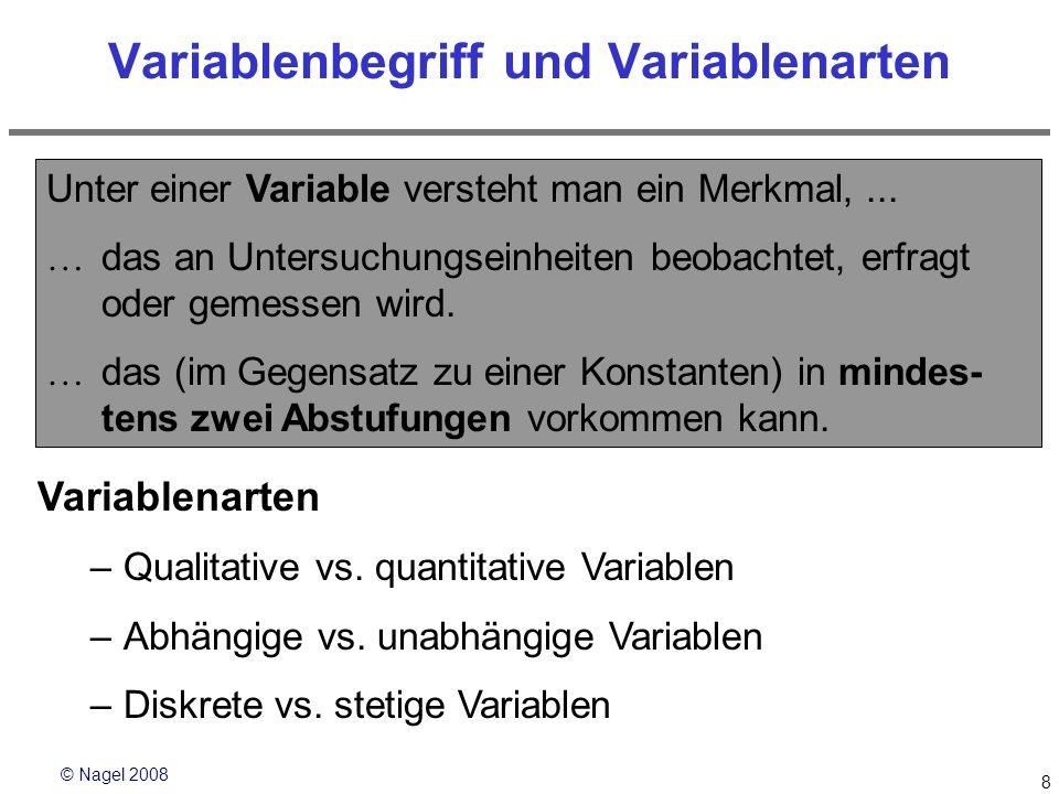 Variablenbegriff und Variablenarten
