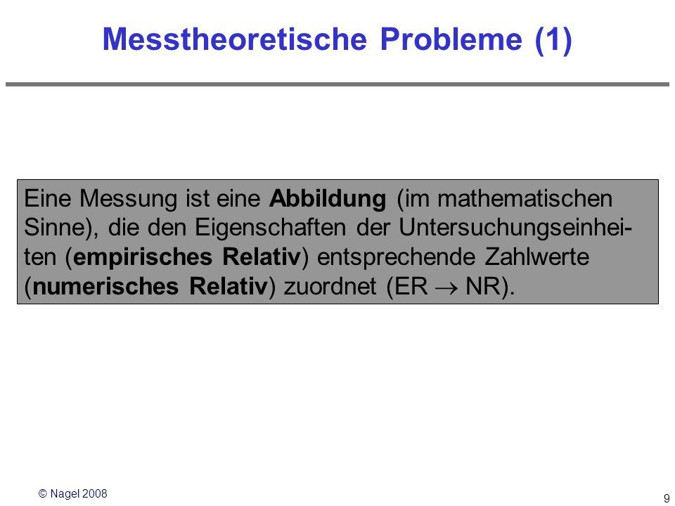 Messtheoretische Probleme (1)