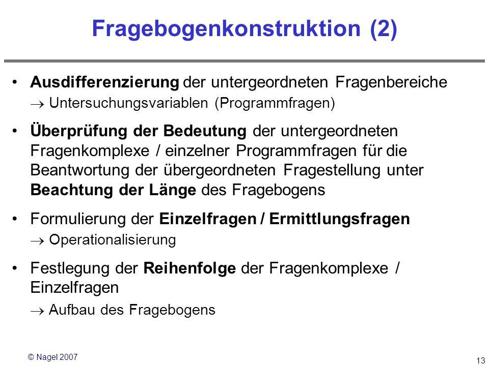 Fragebogenkonstruktion (2)