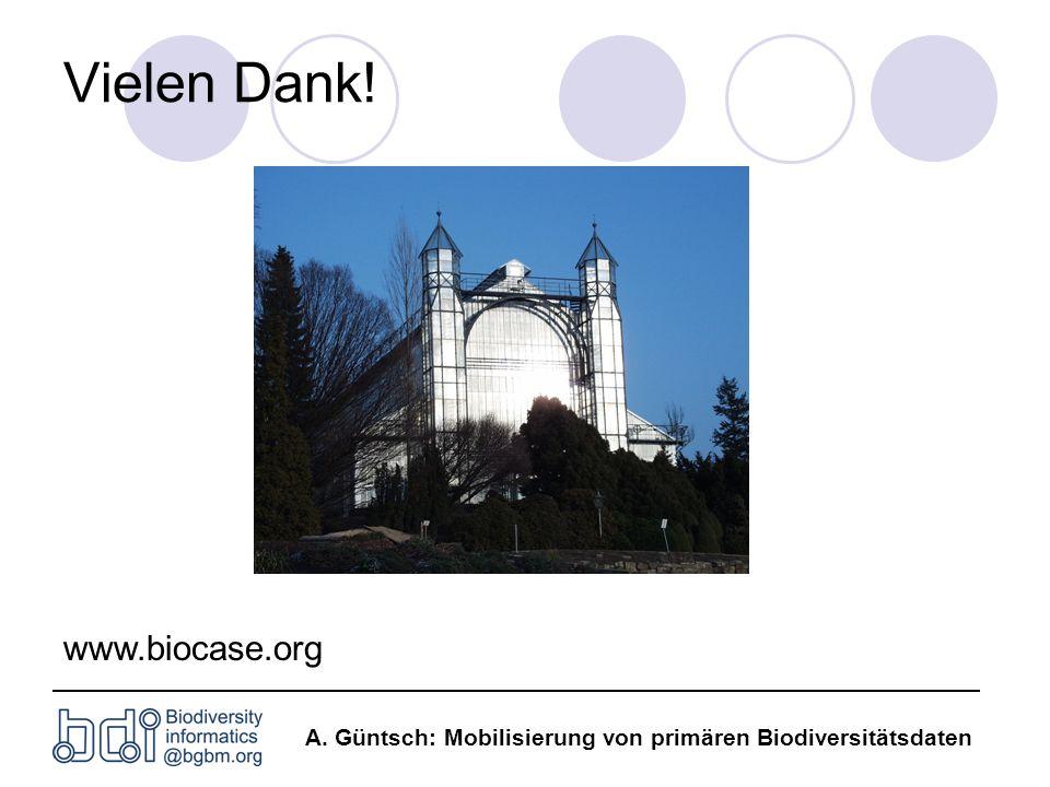 Vielen Dank! www.biocase.org