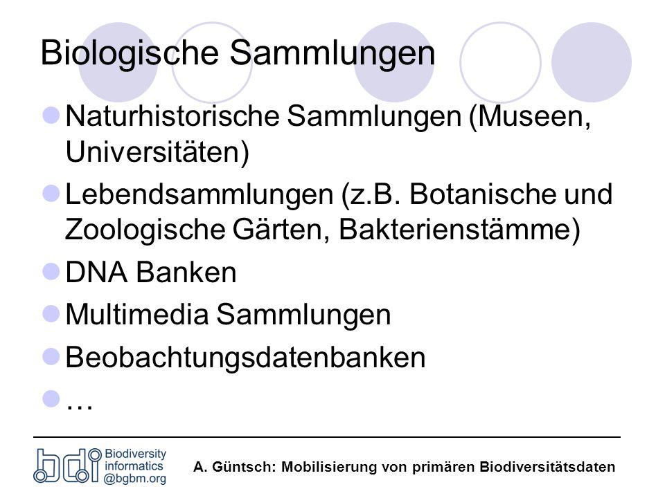 Biologische Sammlungen