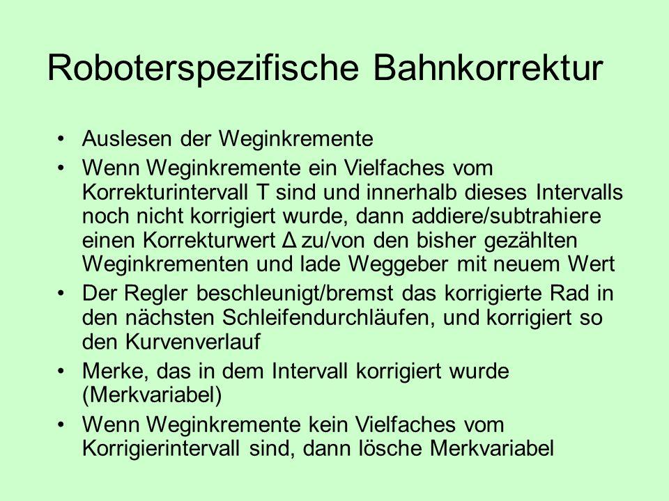 Roboterspezifische Bahnkorrektur
