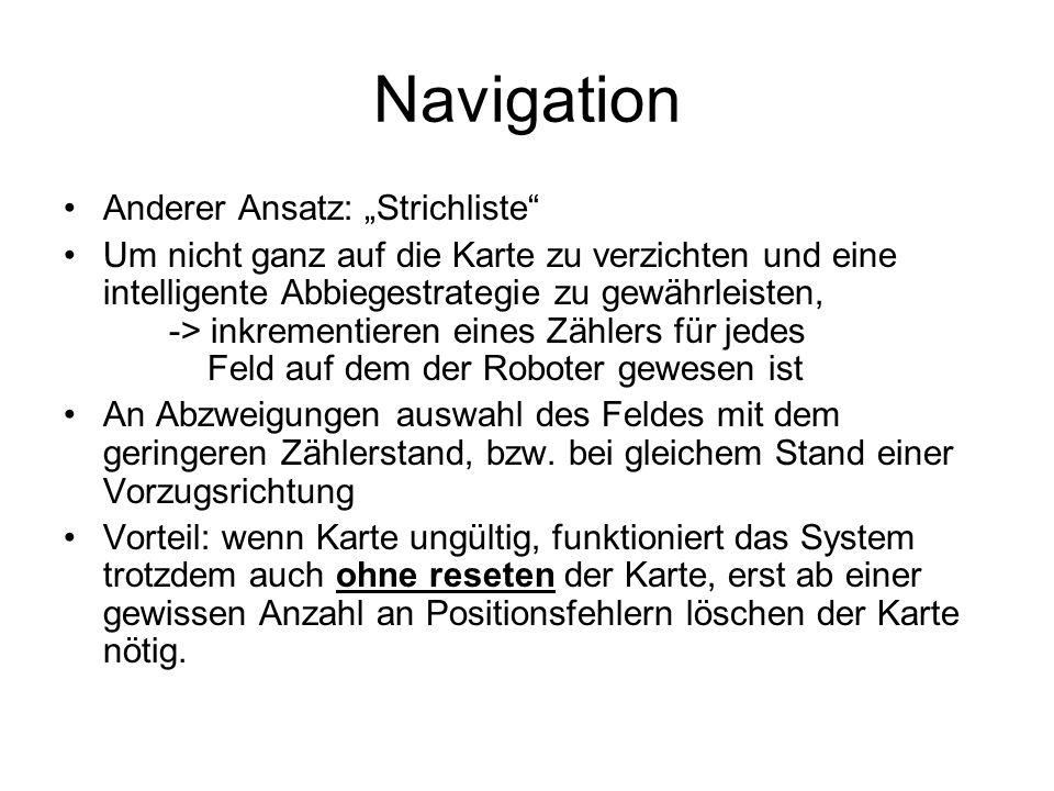 "Navigation Anderer Ansatz: ""Strichliste"