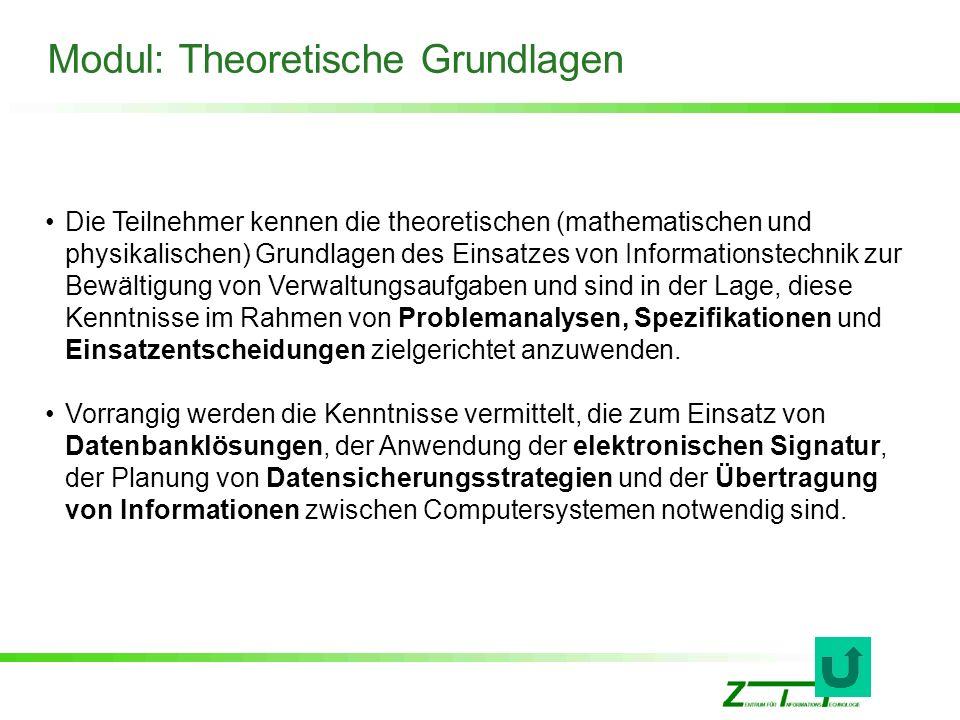 Modul: Theoretische Grundlagen