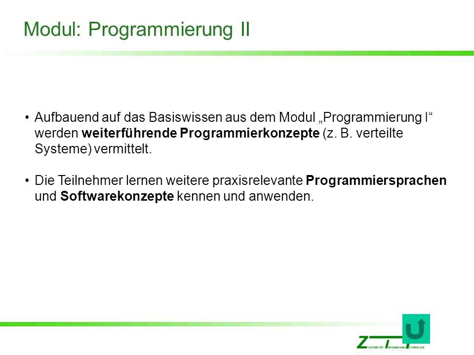 Modul: Programmierung II