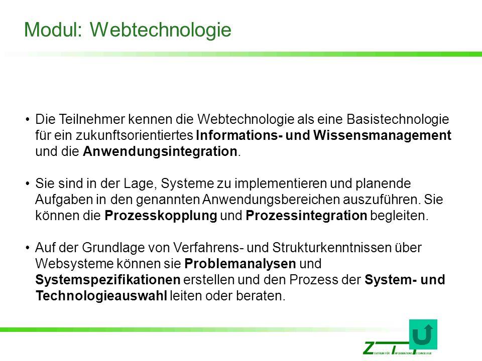 Modul: Webtechnologie