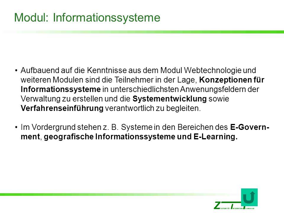 Modul: Informationssysteme
