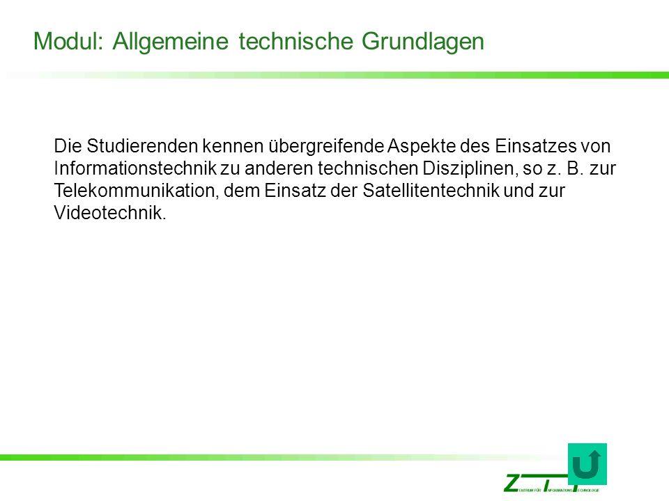 Modul: Allgemeine technische Grundlagen