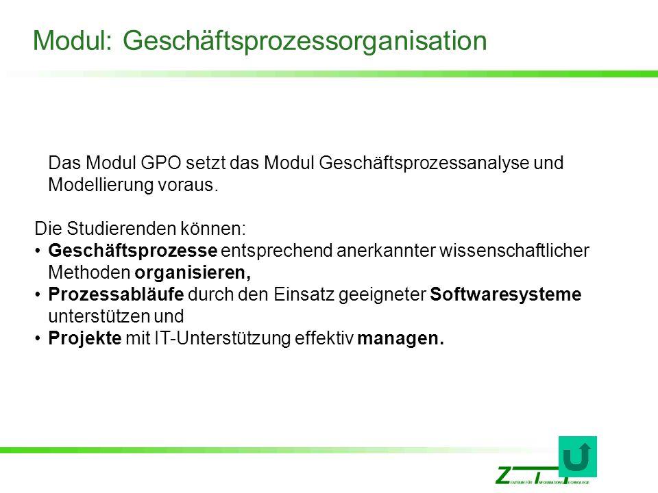 Modul: Geschäftsprozessorganisation