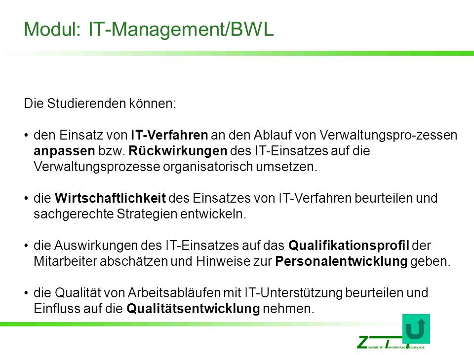 Modul: IT-Management/BWL