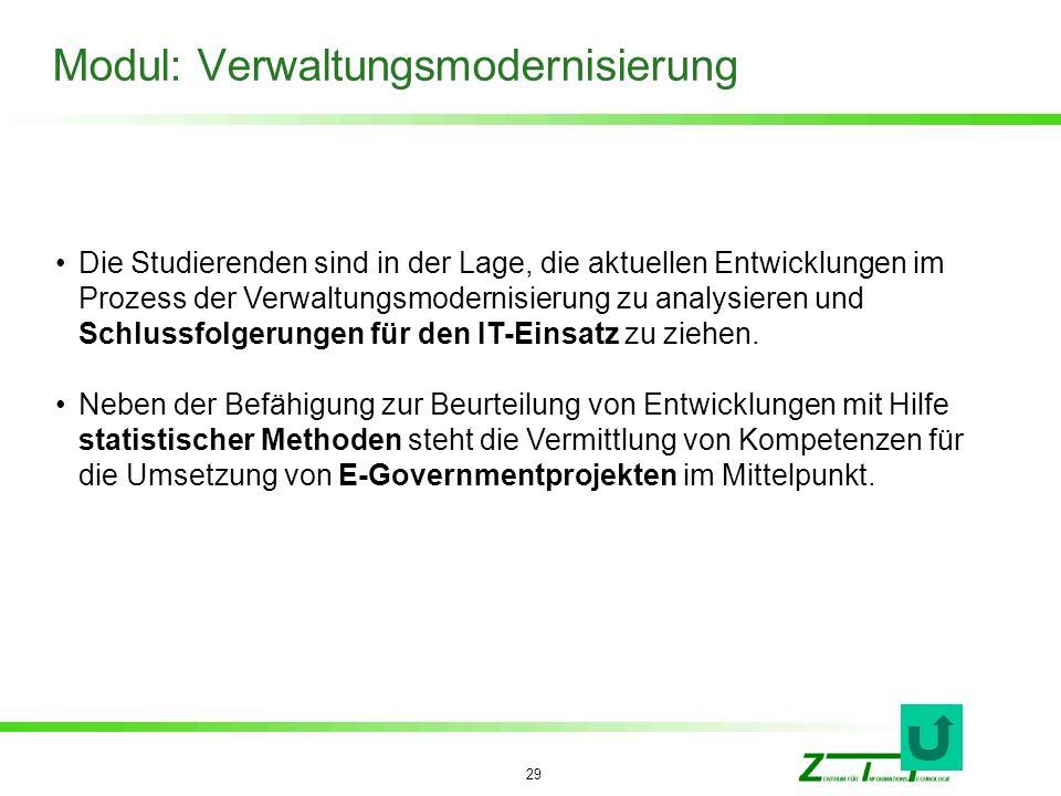 Modul: Verwaltungsmodernisierung