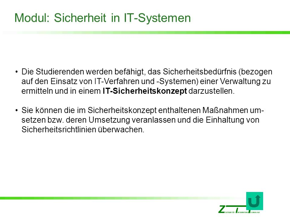 Modul: Sicherheit in IT-Systemen