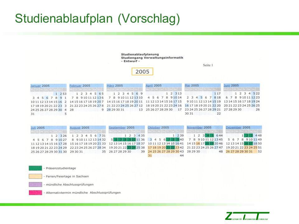 Studienablaufplan (Vorschlag)