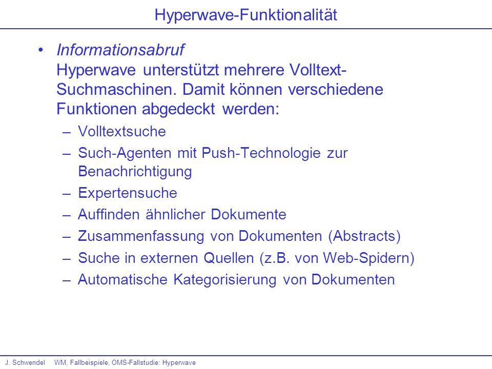 Hyperwave-Funktionalität