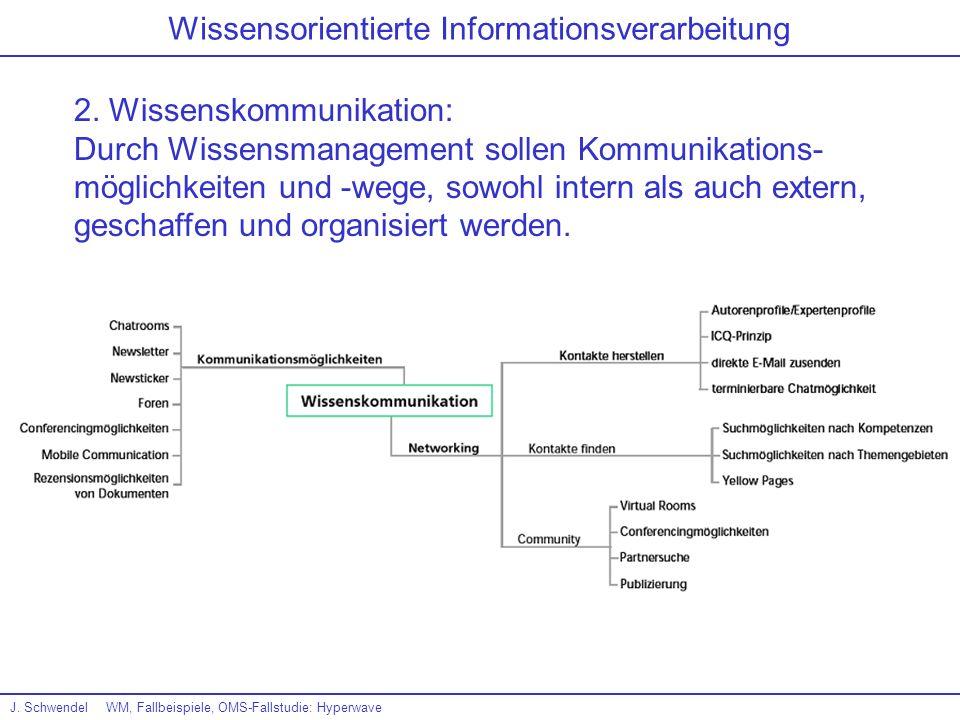 Wissensorientierte Informationsverarbeitung