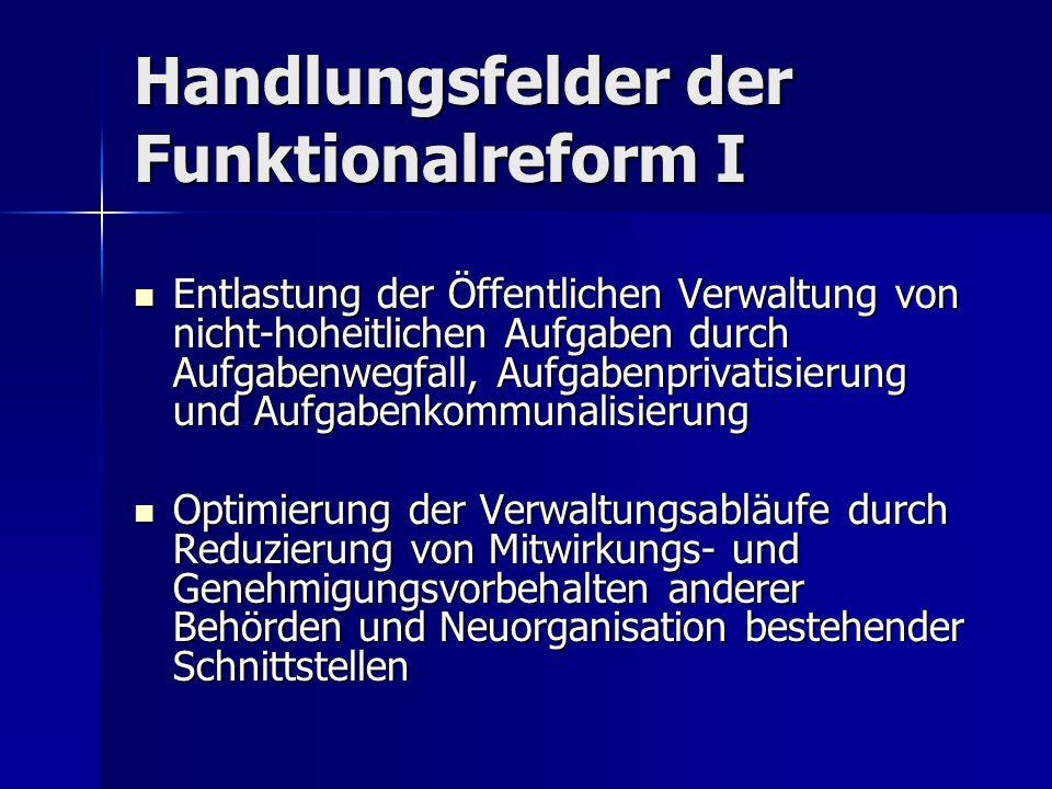Handlungsfelder der Funktionalreform I
