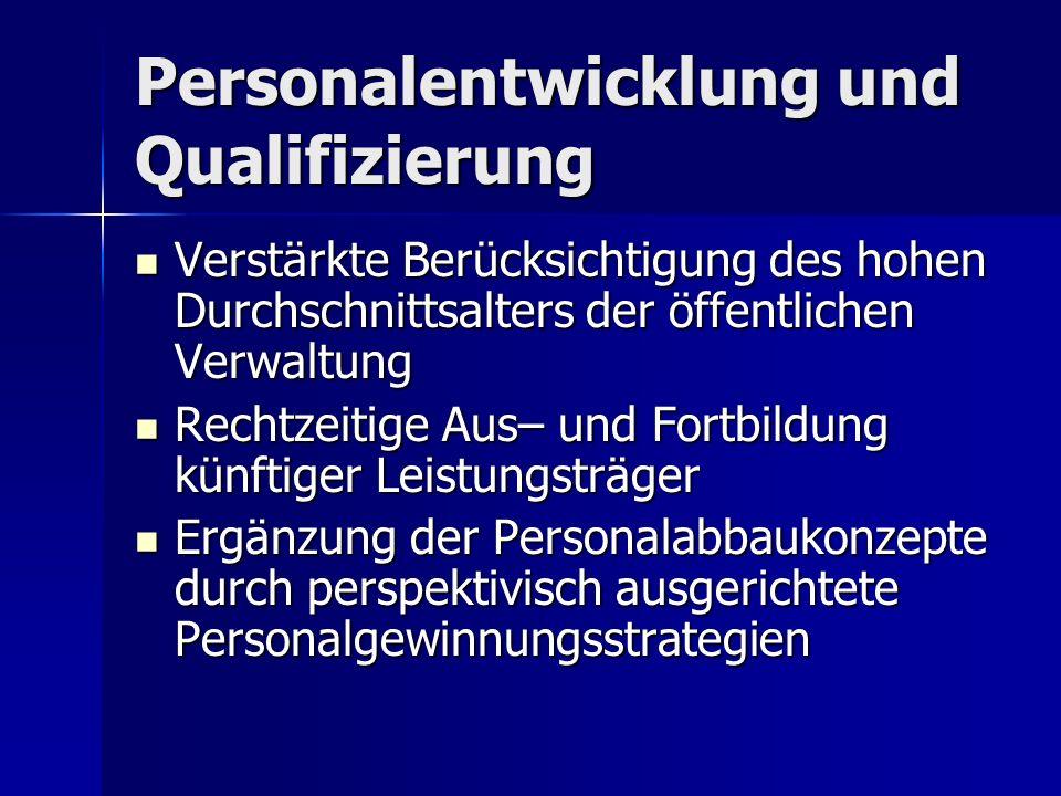Personalentwicklung und Qualifizierung