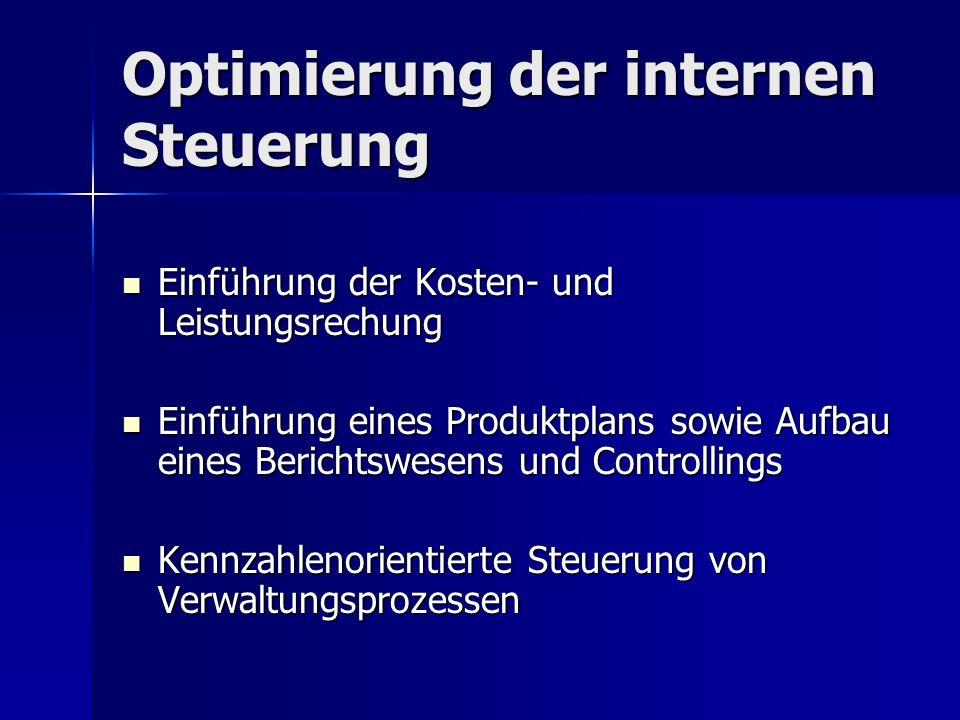 Optimierung der internen Steuerung