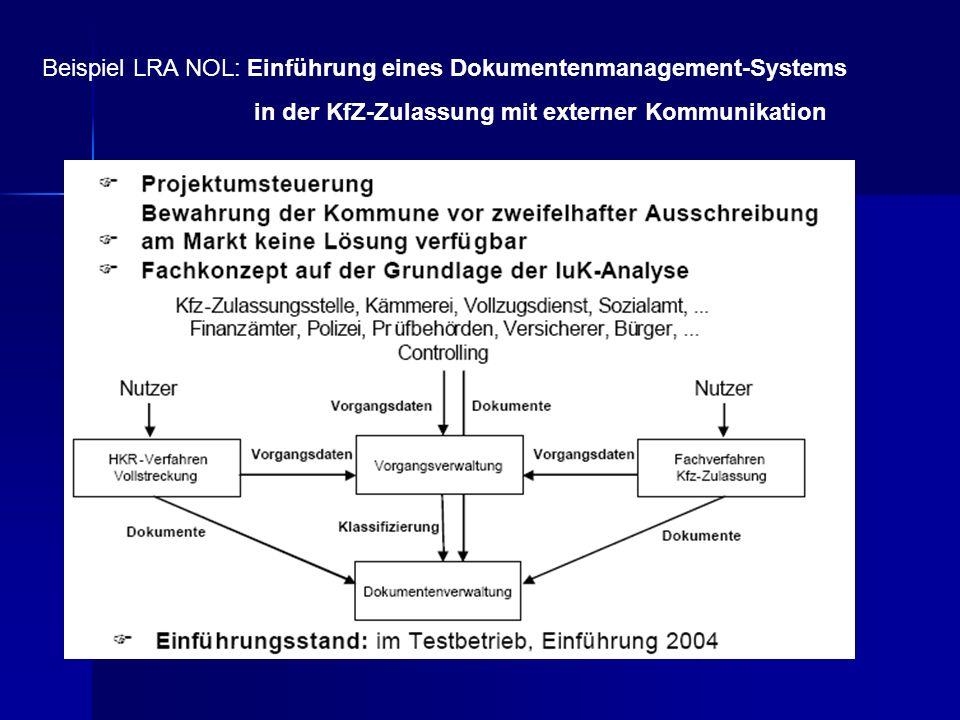 Beispiel LRA NOL: Einführung eines Dokumentenmanagement-Systems