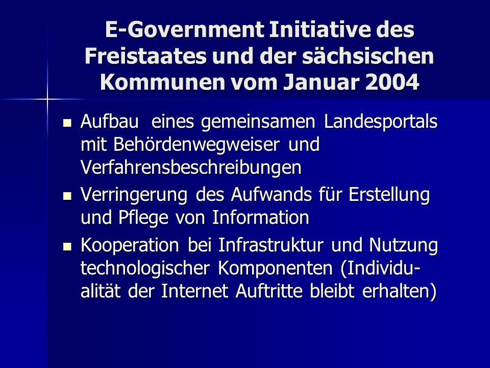 E-Government Initiative des Freistaates und der sächsischen Kommunen vom Januar 2004