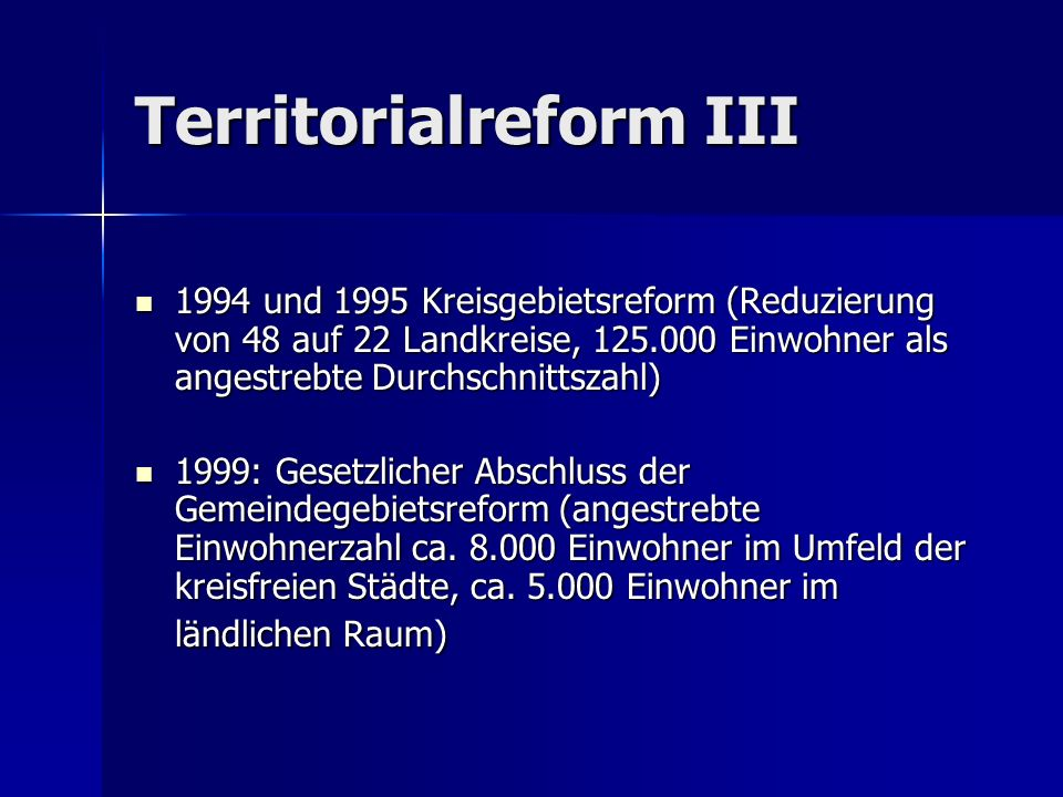 Territorialreform III