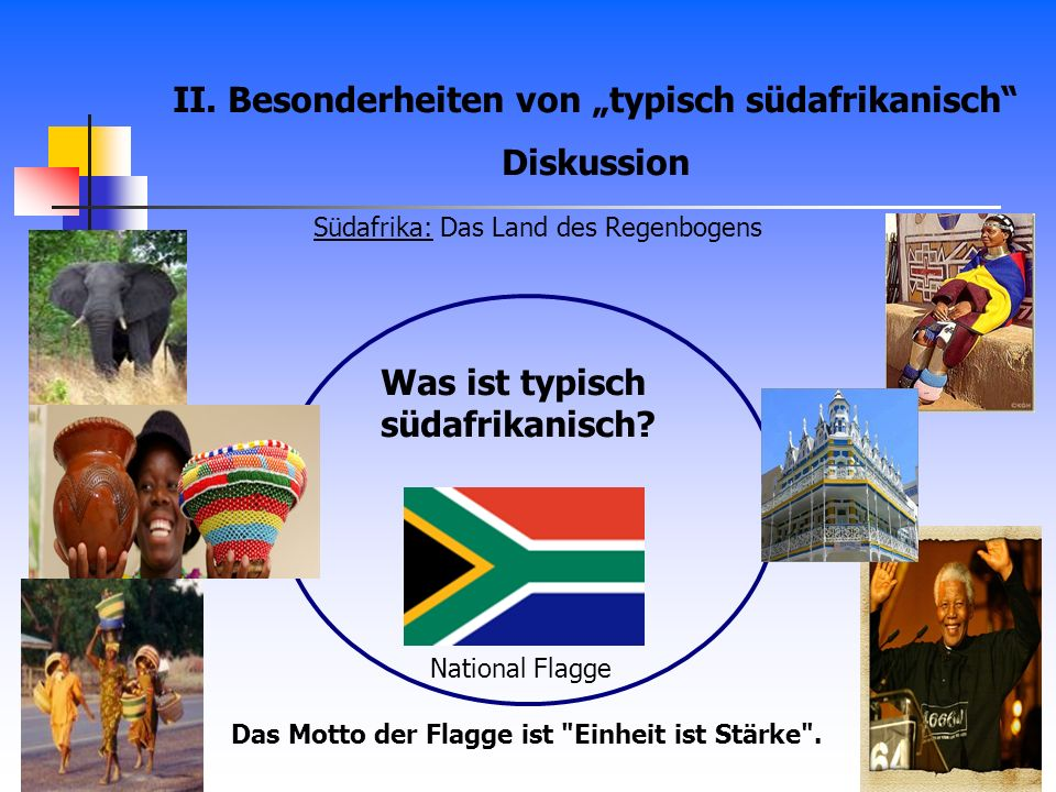 """II. Besonderheiten von """"typisch südafrikanisch Diskussion"""